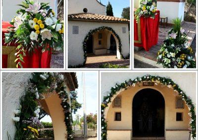 Decoración de acto religioso en Sant Francesc de la Font