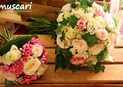 Bouquet de novia y damita