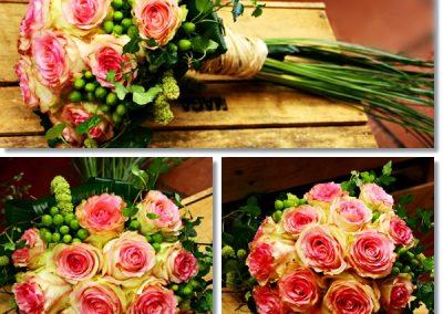 Bouquet de rosa bicolor