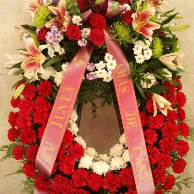 Corona funeraria sencilla
