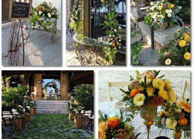 Decoracion vintage de flores para boda en Villa del Mar, Benicàssim
