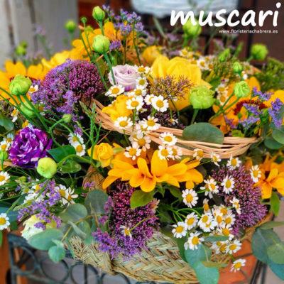Capazo silvestre flor fresca