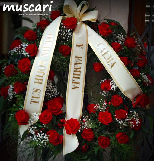 Corona funeraria elegante