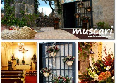 Decoracion de flores vintage en Ermita del Calvario de Onda