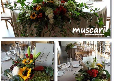 Arreglos florales otoñales para boda en La Ópera de Benicàssim