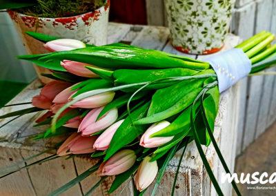 "Ramo de novia con tulipanes ""rosa empolvado"""